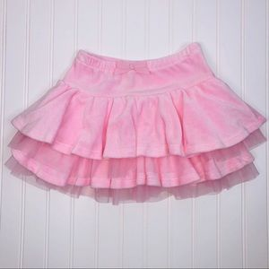 GYMBOREE Girls velvet and tulle skirt